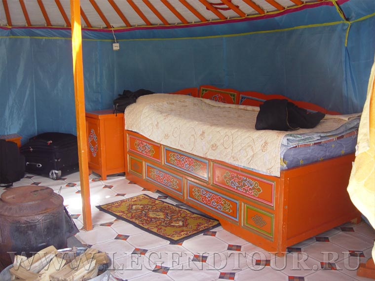 Chinggis Ger camp. Tourist camp in Mongolia.