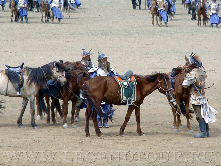 Chinggis Khaans cavalry riders show. Chinggis Khans cavalry riders show.