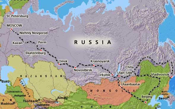 transsibiriska järnvägen tåget